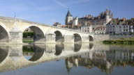 Bridge and castle of Gien along the Loire river