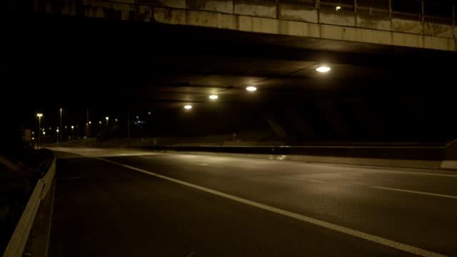 Bridge And Freeway At Night