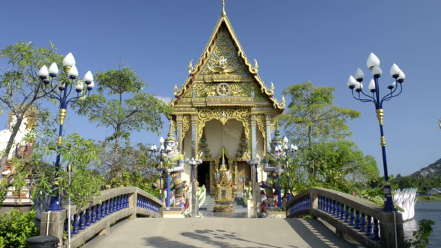 A bridge leading to Thai buddhist temple
