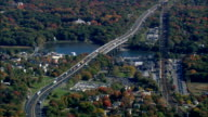 bridges over Saugatuck river at wesport - Aerial View - Connecticut,  Fairfield County,  United States