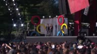 SPEECH Bridget Moynahan describes the contents of the 'Impack' for sale on globalcitizenorg at 2014 Global Citizen Festival in Central Park at...
