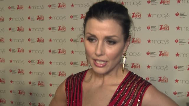 INTERVIEW Bridget Moynahan on supporting the AHA at The American Heart Association's Go Red For Women Red Dress Collection 2017 Presented By Macy's...