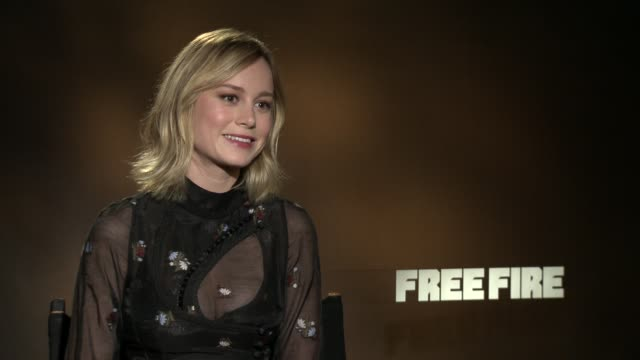 INTERVIEW Brie Larson at 'Free Fire' Los Angeles Press Day at Four Seasons Hotel Los Angeles at Beverly Hills on April 14 2017 in Los Angeles...