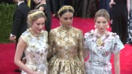 Brie Larson Courtney Eaton and Annabelle Wallis at 'China Through The Looking Glass' Costume Institute Benefit Gala Arrivals at Metropolitan Museum...
