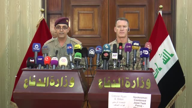 BrigadierGeneral Yahia Rasul a spokesman for the Iraqi army's Joint Operations Command and Colonel Ryan Dillon spokesman for Combined Joint Task...