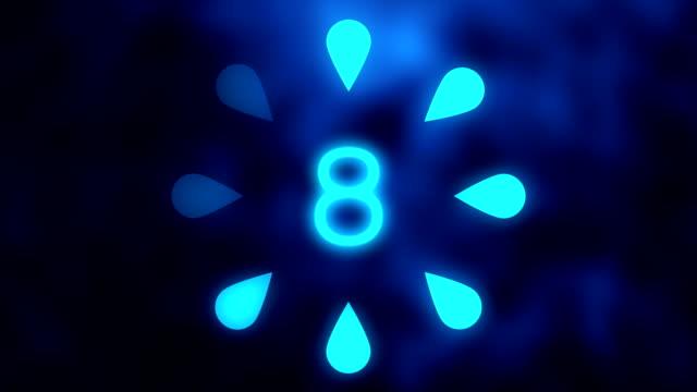 Bright blue countdown