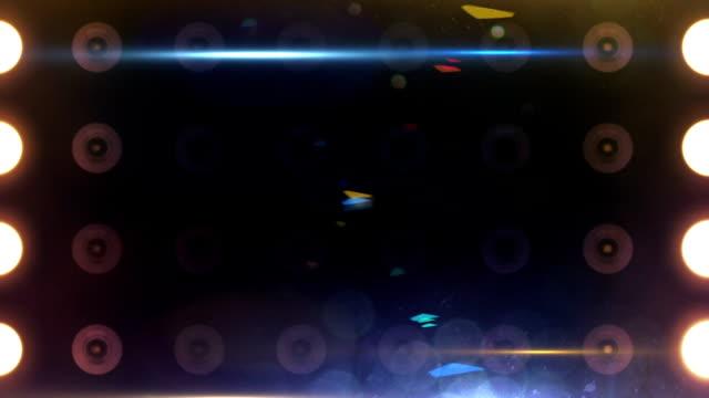 Flusso di luci di sfondo luminoso multicolore con sovralaminature Loop