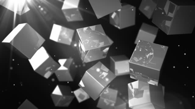 Bright Glossy Cubes Loop - Silver Streak (Full HD)