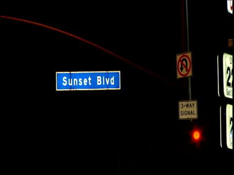 Bright Sunset Boulevard sign Sunset Strip