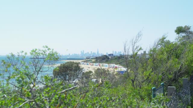Brighton Beach with Beach Houses in the Far Distance, Melbourne, Victoria, Australia