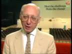 Labour Party Conference Day 2 ENGLAND Brighton Gerald Kaufman interview SOT Snow's question is foolish/there is not a bipartisan approach/Polaris...