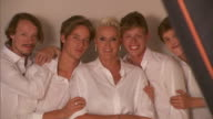 BROLL Brigitte Nielsen and family photoshoot on July 31 2014 in Milan Italy