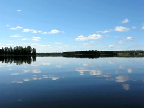 Brilliant still summer Lake of Finland