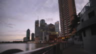 Brisbane skyline at sunset