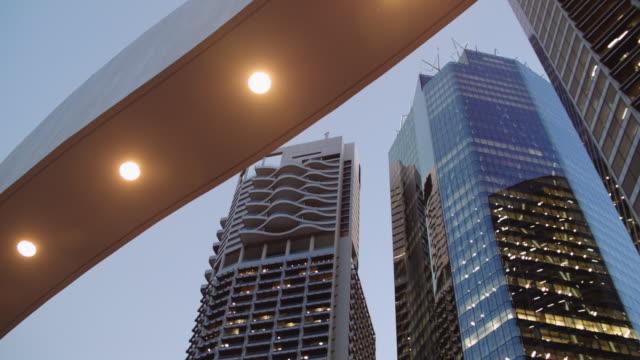 Brisbane skyline at sunset