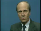 Maastricht Summit CMS Norman Tebbit intvw SOF Single European currency would not be antiinflationary/ would be used to suit the politicians CMS Part...