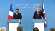 Britain and France sign treaty on military cooperation Press conference QUESTION QUESTION Thank you very much Mr President imagine a situation where...