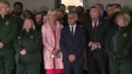 Britain holds a minute's silence for the victims of the London terror attack as mourners gather around floral tributes at London Bridge where seven...