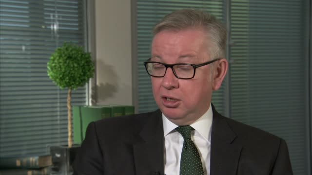 Britain to ban sale and export of ivory ENGLAND London INT Michael Gove MP interview SOT