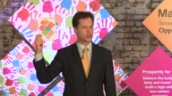 Britain's Deputy Prime Minister and Liberal Democrat leader Nick Clegg said at the launch of his party's manifesto on Wednesday that it is 'an...