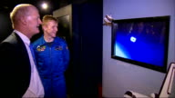 Britain's first official astronaut David Willetts interview ENGLAND LondonScience Museum INT Earth globe exhibit / space wquipment / astronaut poster...