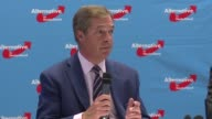 Britain's former UKIP leader Nigel Farage is in Berlin to bring support to the populist right wing Alternative for Germany party two weeks before the...
