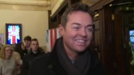Britain's Got Talent launch interviews ENGLAND London INT 'Britain's Got talent' branding poster / paparazzi Stephen Mulhern along and chatting to...