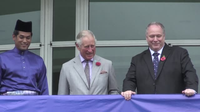 Britain's Prince Charles tours the University of Nottingham's Malaysian campus