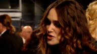 British Academy Film and Television Awards red carpet arrivals Keira Knightley interview SOT