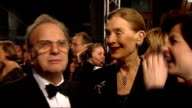 British Academy Film and Television Awards red carpet arrivals Unidentified man witing in queue on red carpet/ Emily Blunt waiting on red carpet/...