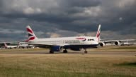 A British Airways aircraft taxis at Heathrow Airport on October 11 2016 in London England The UK government has said it will announce a decision on...