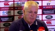 British and Irish Lions head coach Warren Gatland and captain Sam Warburton speak at a press conference on Thursday ahead of Saturday's second Test...