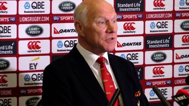 British and Irish Lions tour manager John Spencer at an endoftour press conference on Sunday following the Lions third Test draw against world...