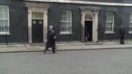 British Cabinet Ministers arrive at Londons Downing Street ahead of British finance minister George Osborne unveiling his annual budget