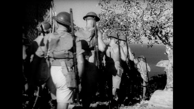 British Empire troops at their base in Papua New Guinea WWII in New Guinea on January 01 1940 in Papua New Guinea