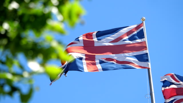 British flag in 4K slow motion