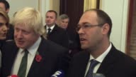British Foreign Minister Boris Johnson meets with Croatian Deputy Prime Minister and Minister of Foreign and European Affairs Davor Ivo Stier in...