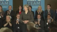 British Gas raises electricity prices by 125 percent LIB / T09051709 York INT Theresa May MP speech during 2017 General Election campaign SOT...