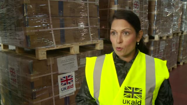 British government criticised for slow response to Hurricane Irma Gloucestershire INT Priti Patel MP interview SOT