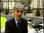British Grand Prix Damon Hill and Rick Parfitt photocall and interviews Damon Hill interview SOT On new date for British Grand Prix / On change of...