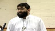 British Islamic leaders' press conference on fifth anniversary of 9/11 World Trade Center attacks Abu Uzair press conference SOT On his experience of...