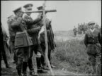 British King George V visits a World War I battlefield