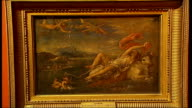 British Mona Lisa painting goes on display Framed fake Titian painting Close up of detail in fake Titian painting DISSOLVE TO
