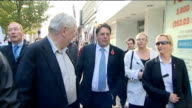 Nick Griffin appearance on Question Time INT Reporter to camera Essex Grays EXT Nick Griffin along street with others SOT Asian man holding camera...