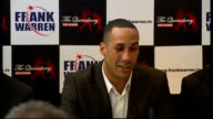 British Olympic boxers turn professional DeGale press conference SOT Fulfilled his first aim of being an Olympian by winning gold medal / His second...