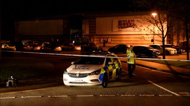 British police stormed a the MFA Bowl bowling alley at The Bermuda leisure park in Nuneaton central England on Sunday after a gunman took two hostages