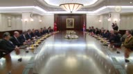 British Prime Minister Theresa May and delegation accompanied her hold a meeting with Turkish Prime Minister Binali Yildirim at the Prime Ministry...