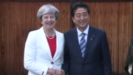 British Prime Minister Theresa May arrives in Japan hoping to soothe fears about Brexit hammering local firms access to the European market