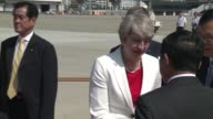 British Prime Minister Theresa May arrives in Japan on an official visit with an eye to soothing Brexit fears and pushing ahead on early free trade...
