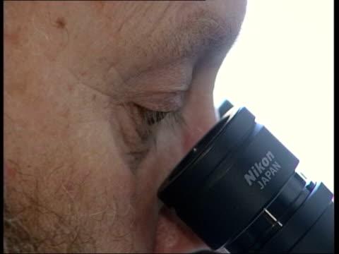 British scientist wants to clone human embryos ITN Professor Ian Wilmott looking thru microscope London Dr Helen Watt interview SOT this is not...